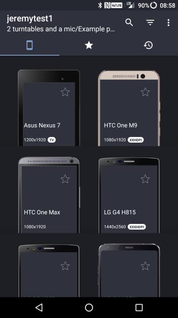 nativetap device screen